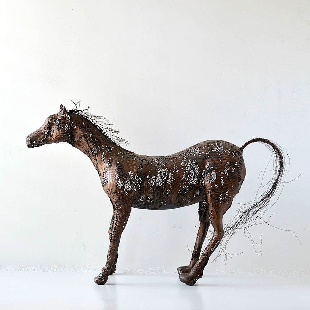 sculpture metal animaux awesome add to a collection with. Black Bedroom Furniture Sets. Home Design Ideas