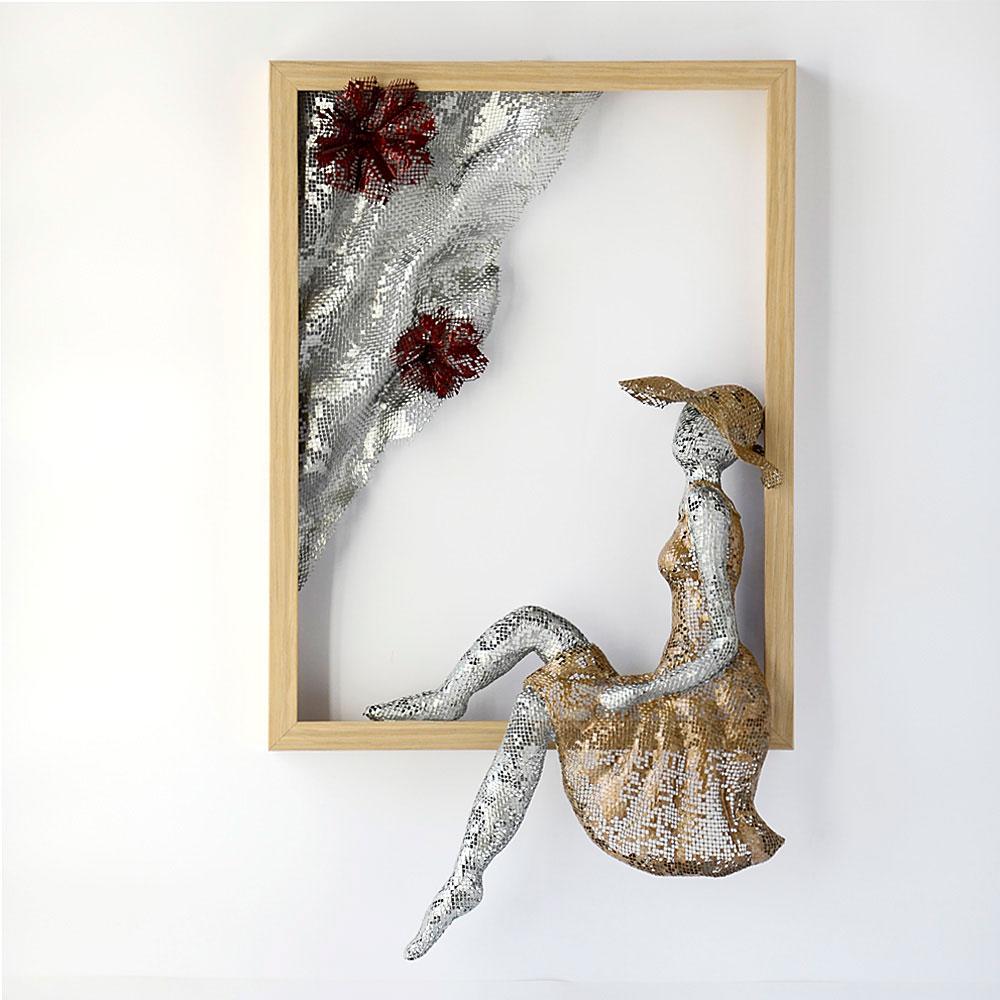 Metal Wall Art - NUNTCHI   Wire Mesh Sculptures