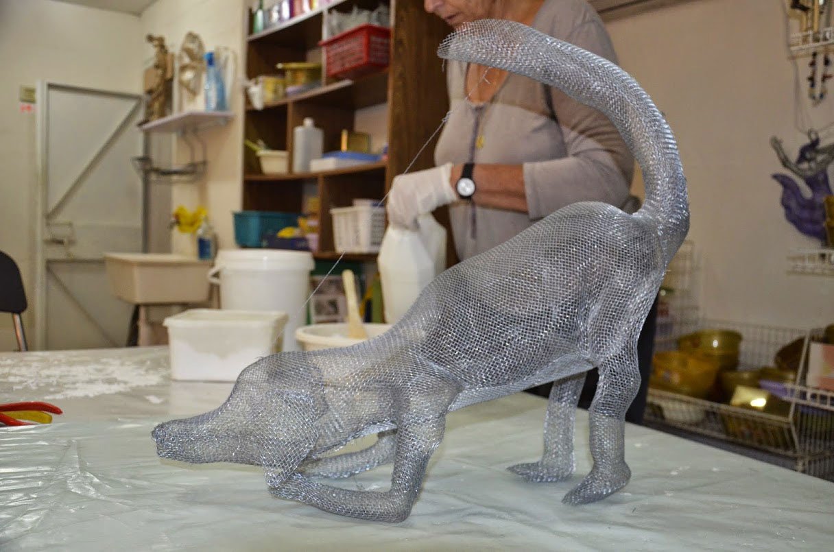 Wire Mesh Sculpture dog